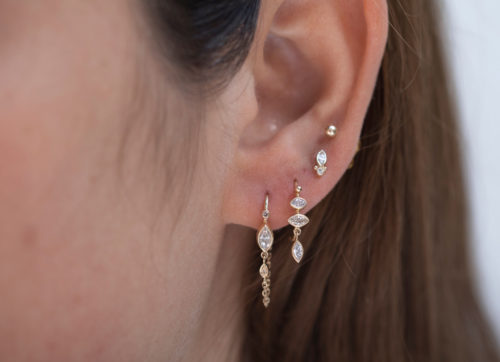 Celine Daoust_Protection and Believes Marquise Diamond eye single Earring Stud