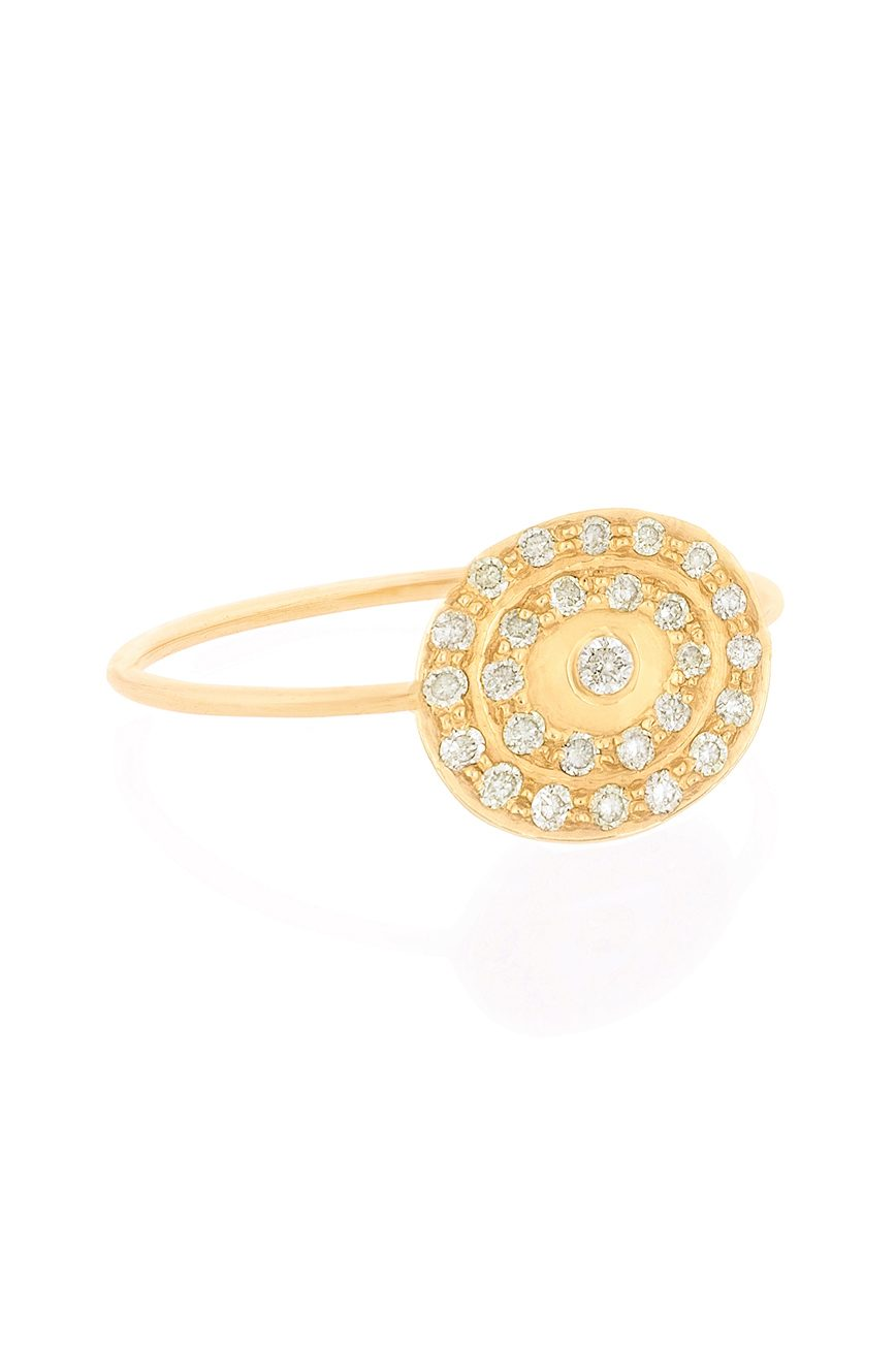 celine daoust best selling gold kate infinity 27 diamond pave ring