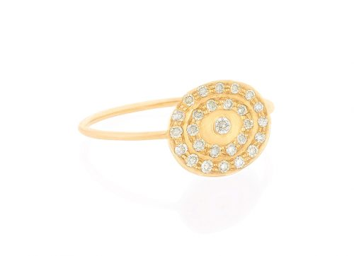 celine daoust gold kate infinity 27 diamond pave ring