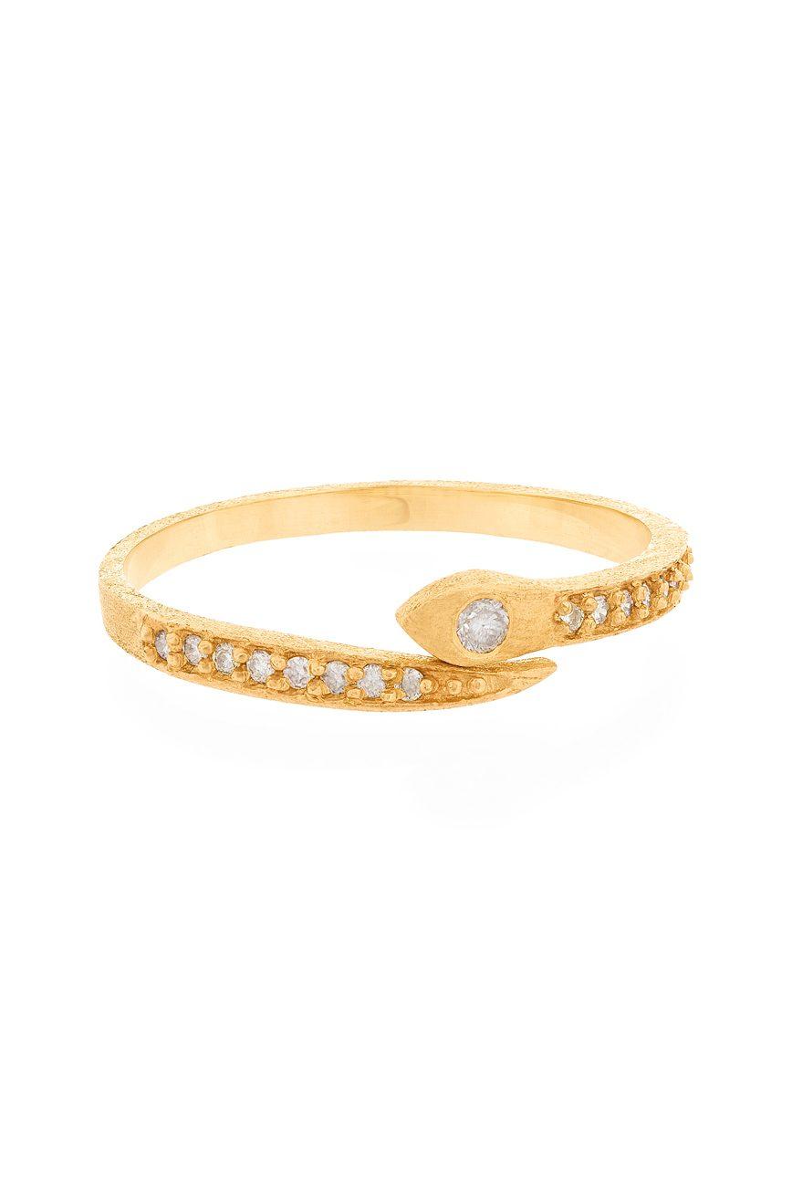 celine daoust gold diamond pave snake ring