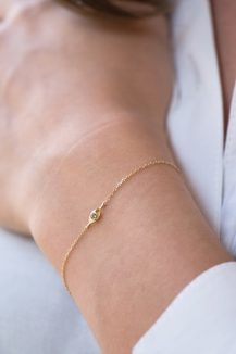 yellow gold protection and believes small diamond eye chain bracelet celine daoust
