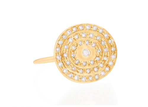celine daoust yellow gold kate infinity 51 diamond ring