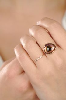 celine daoust geometrics diamonds Clara ring