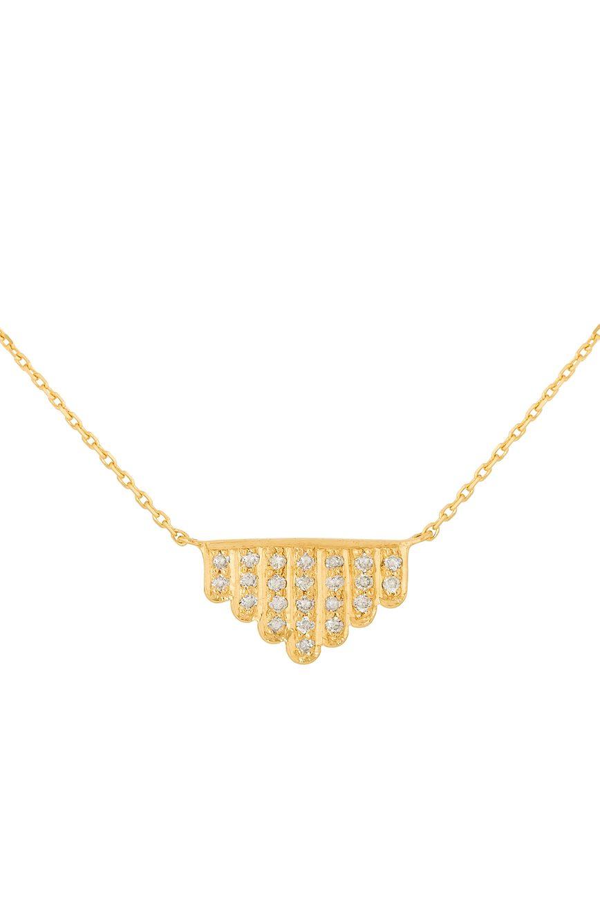 yellow gold geometrics art deco diamonds necklace celine daoust