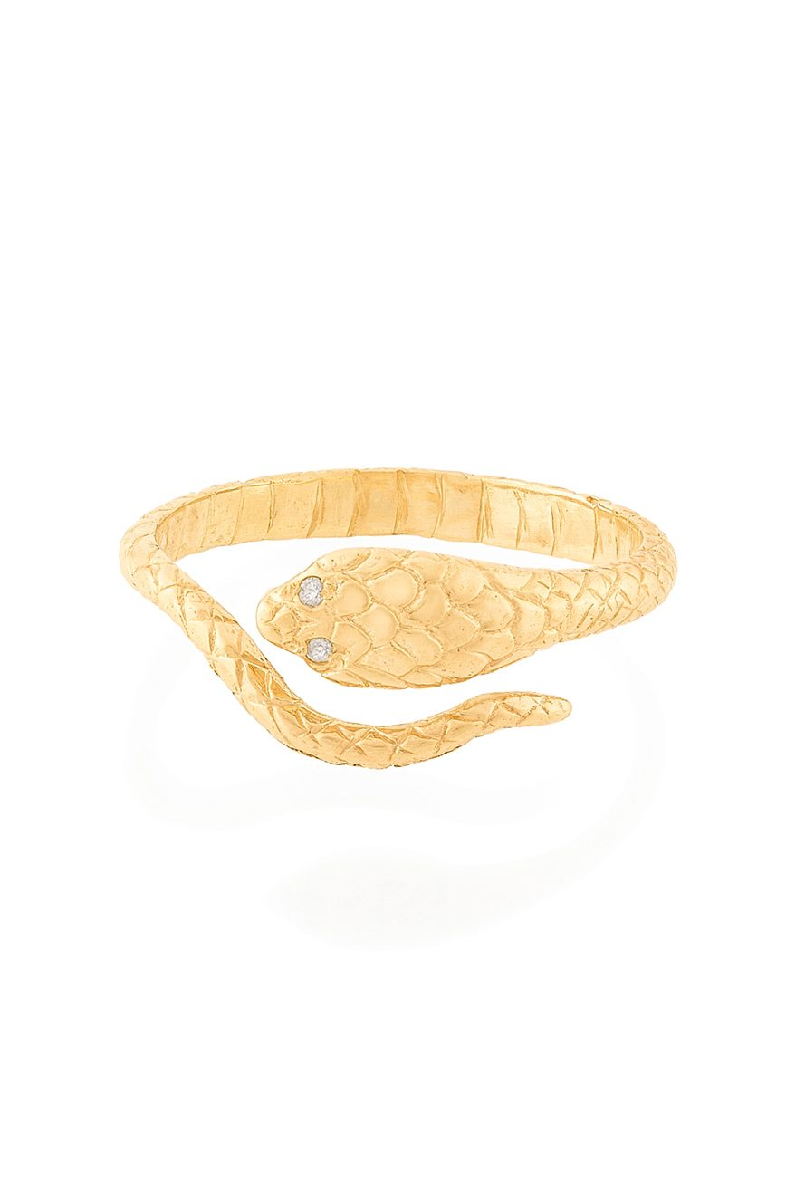 celine daoust from the earth yellow gold cobra diamonds ring
