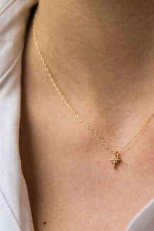 celine daoust gold stars and universe diamond north star chain necklace