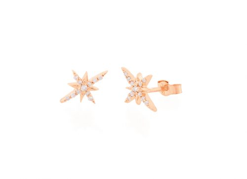 celling daoust rose gold stars and universe north star stud earrings