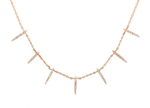 yellow gold diamonds sunbeams necklace celine daoust