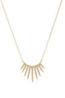 yellow gold rising sun diamond necklace celine daoust