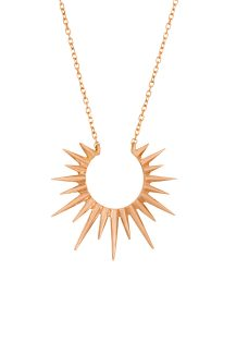 celine daoust gold stars universe full sun necklace