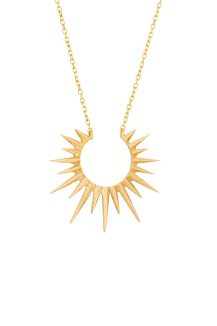 celine daoust 14kt yellow gold stars and universe full sun necklace