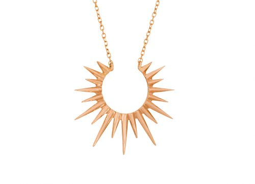 celine daoust rose gold stars universe full sun necklace