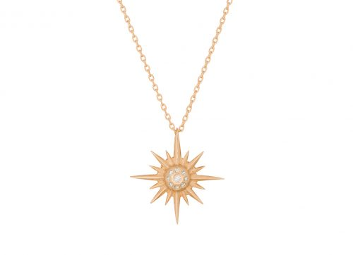 Celine Daoust 14kt Yellow Gold Stars and Universe Diamond Star Necklace
