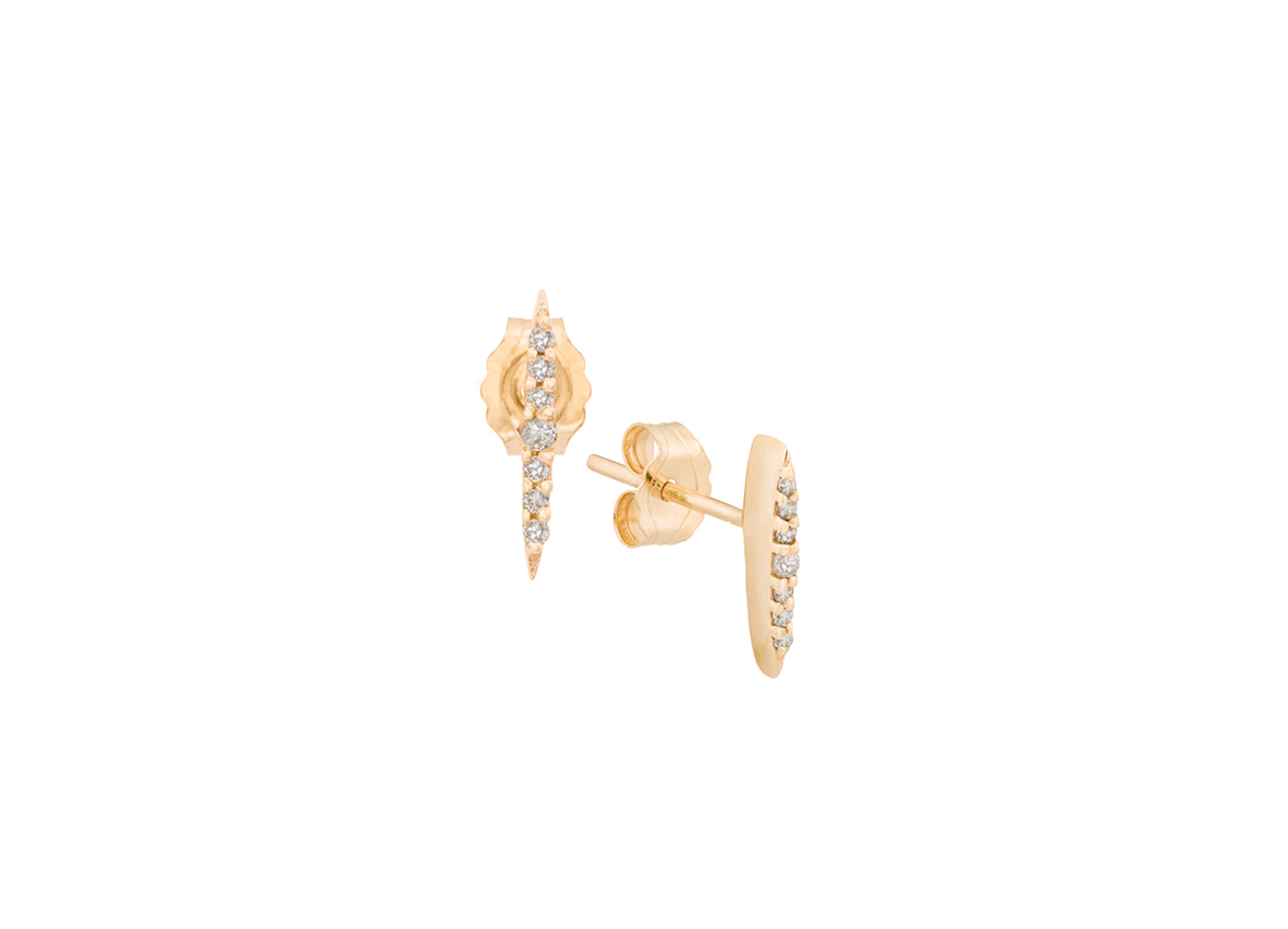 1afc4c5e84b143 Celine Daoust Small Diamond Sunbeam Stud Earrings | Mix and Match Studs |  Worldwide Shipping - Celine Daoust
