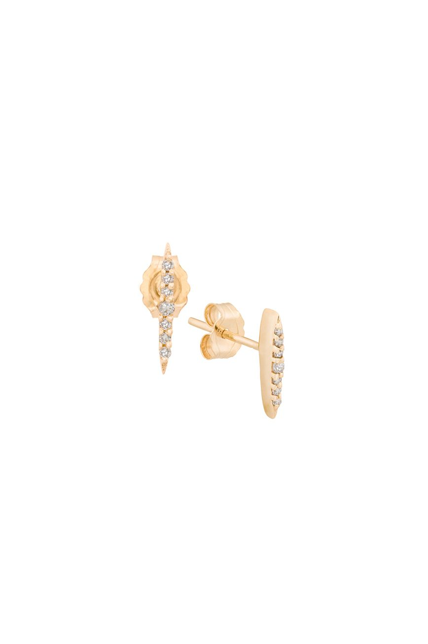 celine daoust gold sunbeam diamond stud earrings