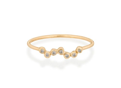celine daoust gold diamond twisted diamond ring