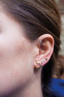 celine daoust stars universe sun moon diamond stud earrings