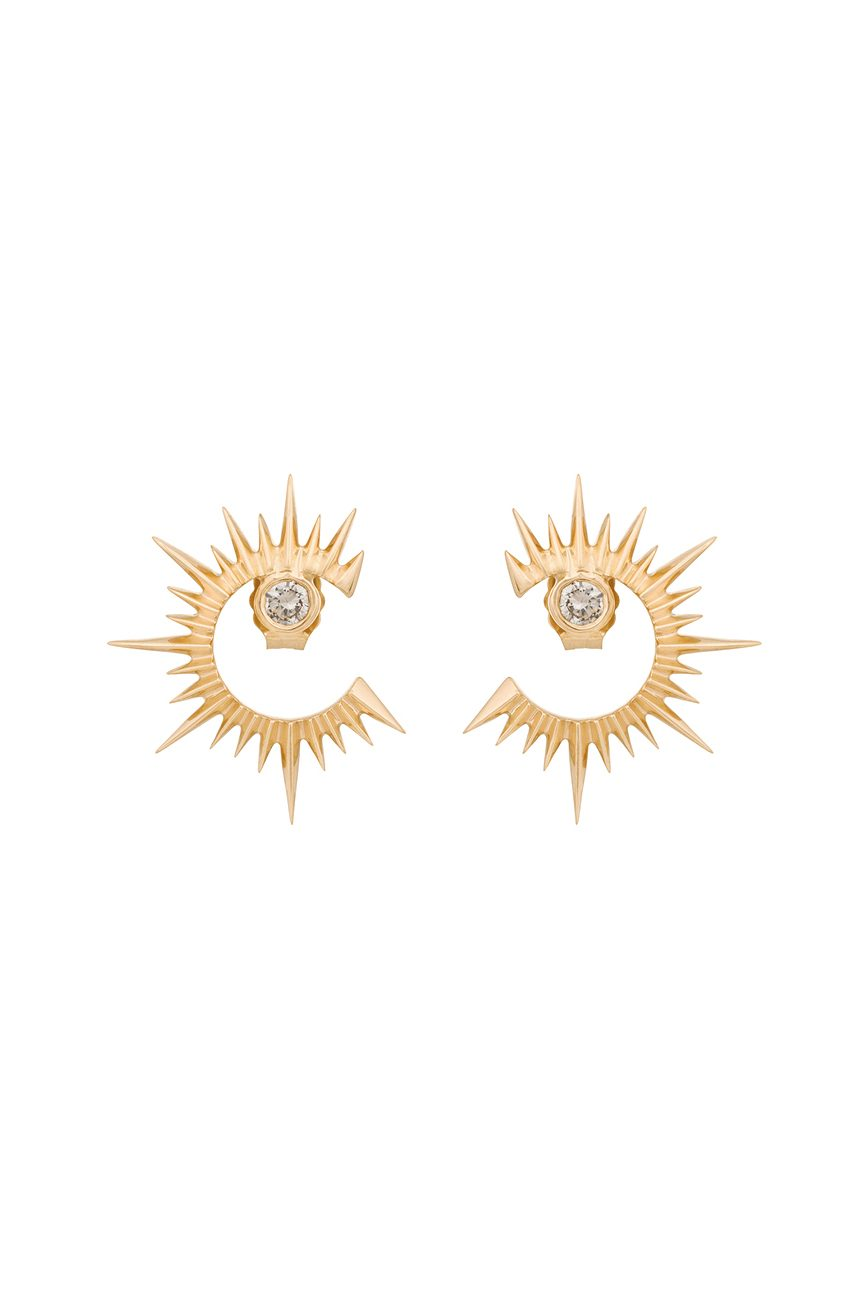 crescents moon gold jewelry stars diamond and pin celestial