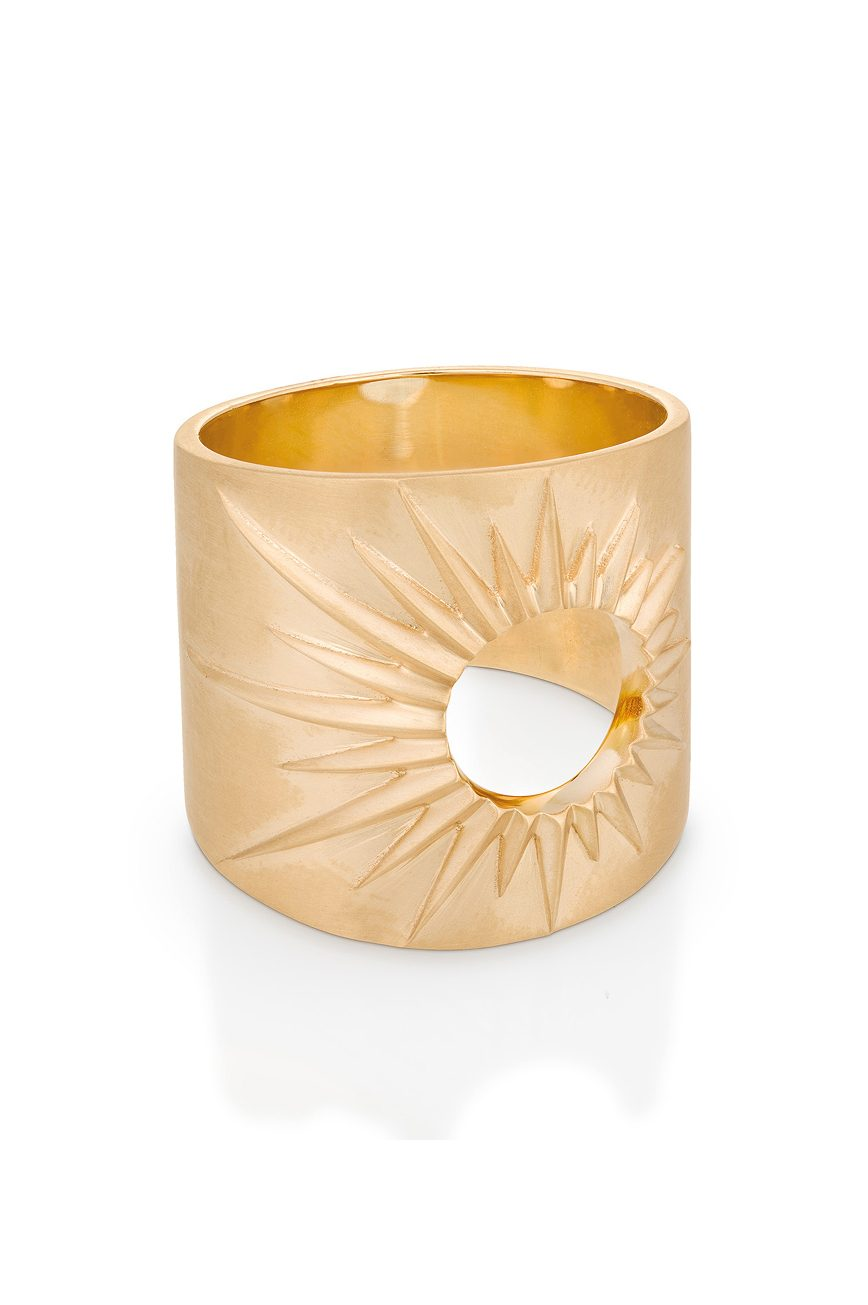 celine daoust gold stars and universe full sun ring