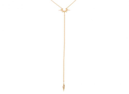 celine daoust stars and universe diamond sun chain lariat necklace