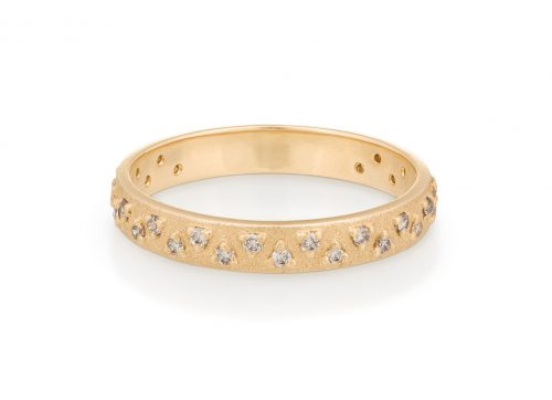 celine daoust gold geometric diamond stacking ring wedding band