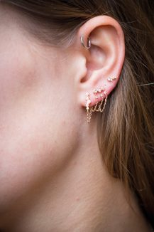 cleane daoust mix and match constellation diamond stud earrings