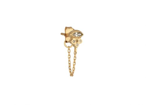 yellow gold protection and believes diamond marquise and diamond tubes single chain earring celine daoust