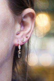 celine daoust gold diamond constellation moon earth diamond earrings