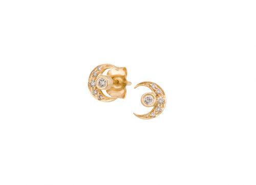 celine daoust constellation moon earth diamond earrings