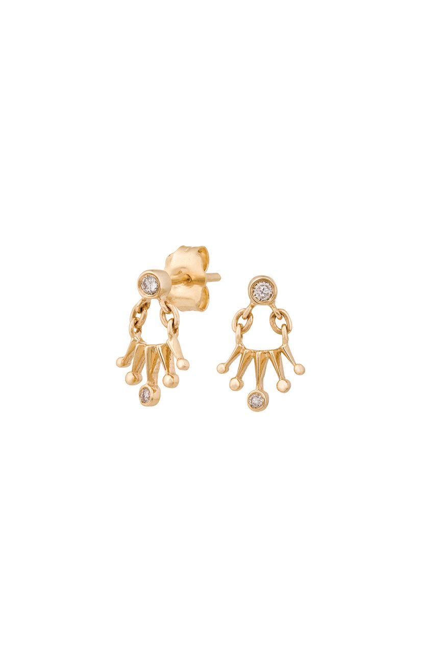 in kwo zoom mini crown kwon gold jennie product diamond earrings designers stud