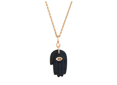 rose gold protection and believes black grey tiger eye and diamond eye protection hand chain necklace celine daoust
