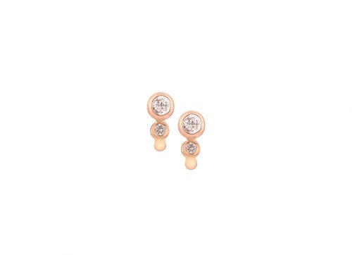 celine daoust protection believes double brilliant cut diamond stud earrings