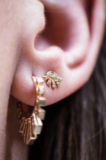 celine daoust protection believes diamond eye stud earring