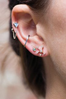 celine daoust mix and match diamond constellation opal stud