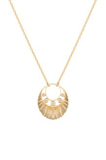 celine daoust gold stars and universe five diamond moon crescent necklace