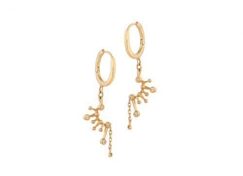 celine daoust yellow gold constellation hoop earring