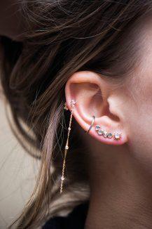 Celine Daoust Constellation Sun Moonstone Single Earring Stud