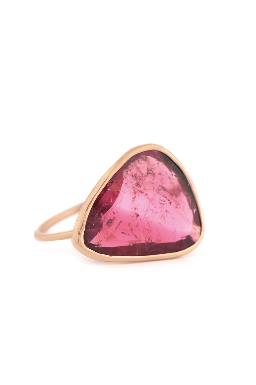 Celine Daoust rose gold pink tourmaline ring