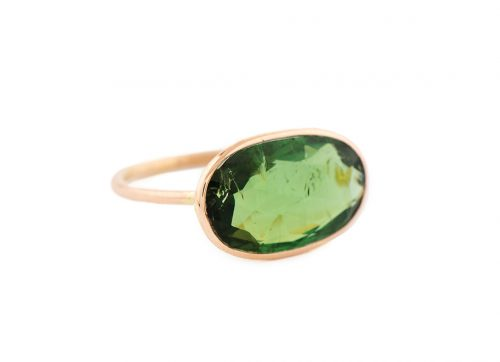 Celine Daoust rose gold green tourmaline ring