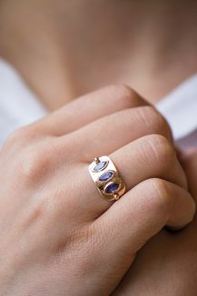 Celine Daoust_Geometric Marquise Tanzanite Plate Ring