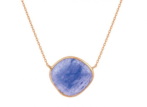 Celine Daoust rose gold tanzanite necklace