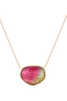Celine Daoust rose gold Faye tourmaline necklace
