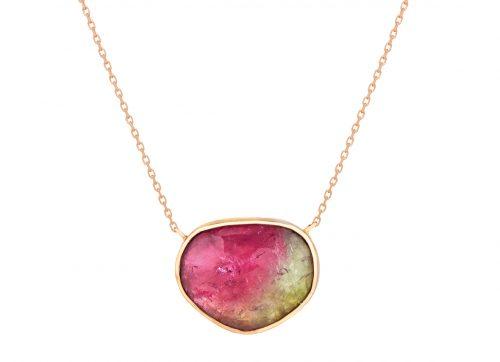 Celine Daoust rose gold Faye tourmaline necklace