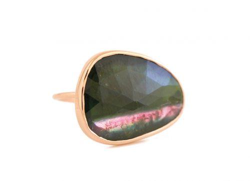 celine daoust Light rose gold one of a kind faye tourmaline ring