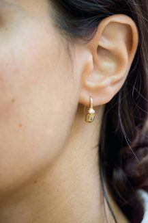 celine daoust from the earth beetle and diamonds set dormeuse earrings