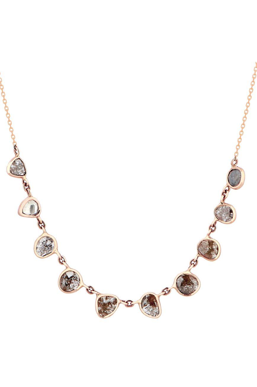 Celine Daoust_Slice of the Universe multi Grey Diamonds slice Necklace