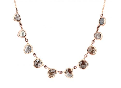 Celine Daoust_Slice of the Universe_multi Grey Diamonds slice Necklace