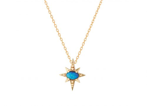 Celine Daoust gold and Star Opal necklace