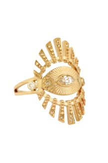 celine daoust protection and believes sun eye marquise diamond and diamond beams Ring