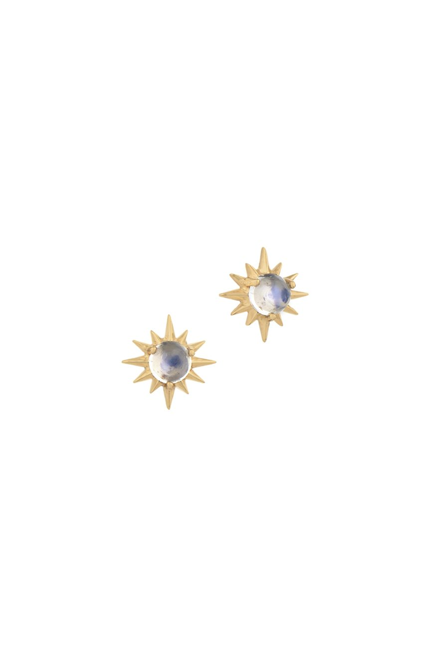 Celine Daoust Constellation Sun Moonstone Earring Stud set
